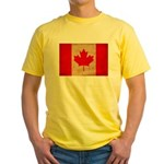 Canada Flag Yellow T-Shirt