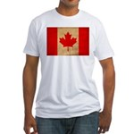 Canada Flag Fitted T-Shirt