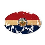Missouri Flag 38.5 x 24.5 Oval Wall Peel
