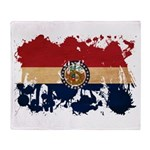 Missouri Flag Throw Blanket