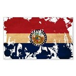 Missouri Flag Sticker (Rectangle 10 pk)
