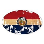 Missouri Flag Sticker (Oval 10 pk)