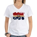 Missouri Flag Women's V-Neck T-Shirt