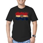 Missouri Flag Men's Fitted T-Shirt (dark)