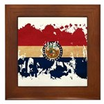 Missouri Flag Framed Tile