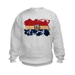 Missouri Flag Kids Sweatshirt