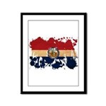 Missouri Flag Framed Panel Print