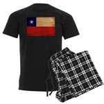 Chile Flag Men's Dark Pajamas