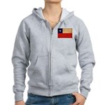 Chile Flag Women's Zip Hoodie