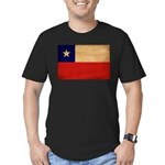 Chile Flag Men's Fitted T-Shirt (dark)