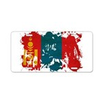 Mongolia Flag Aluminum License Plate