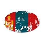 Mongolia Flag 22x14 Oval Wall Peel