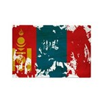 Mongolia Flag Rectangle Magnet (100 pack)