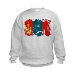 Mongolia Flag Kids Sweatshirt