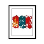 Mongolia Flag Framed Panel Print