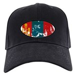 Mongolia Flag Black Cap
