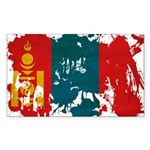 Mongolia Flag Sticker (Rectangle)