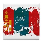 Mongolia Flag Tile Coaster