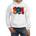 Mongolia Flag Hooded Sweatshirt