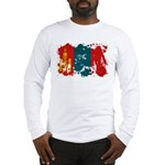 Mongolia Flag Long Sleeve T-Shirt