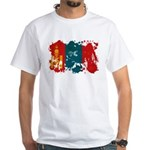 Mongolia Flag White T-Shirt