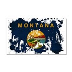Montana Flag Car Magnet 20 x 12
