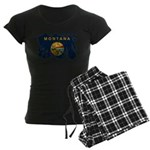 Montana Flag Women's Dark Pajamas