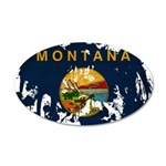 Montana Flag 38.5 x 24.5 Oval Wall Peel