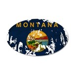 Montana Flag 22x14 Oval Wall Peel