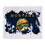 Montana Flag Throw Blanket