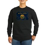 Montana Flag Long Sleeve Dark T-Shirt