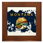 Montana Flag Framed Tile