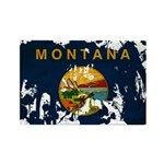 Montana Flag Rectangle Magnet (100 pack)