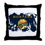 Montana Flag Throw Pillow