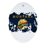 Montana Flag Ornament (Oval)