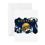 Montana Flag Greeting Cards (Pk of 10)