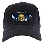 Montana Flag Black Cap