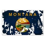Montana Flag Sticker (Rectangle)