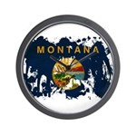 Montana Flag Wall Clock