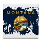 Montana Flag Tile Coaster