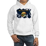 Montana Flag Hooded Sweatshirt