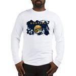 Montana Flag Long Sleeve T-Shirt