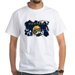 Montana Flag White T-Shirt