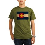 Colorado Flag Organic Men's T-Shirt (dark)