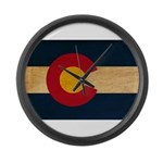 Colorado Flag Large Wall Clock