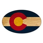 Colorado Flag Sticker (Oval 10 pk)