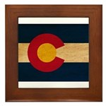 Colorado Flag Framed Tile