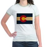 Colorado Flag Jr. Ringer T-Shirt