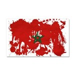 Morocco Flag Car Magnet 20 x 12