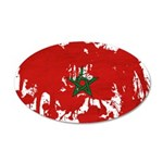Morocco Flag 38.5 x 24.5 Oval Wall Peel